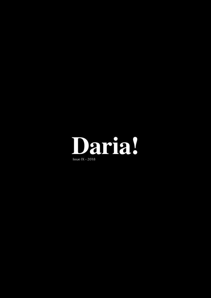 Daria! Magazine 2018 is Published