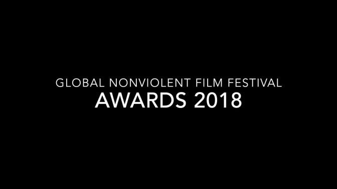Daria Trifu Announces the Awards at the Global Nonviolent Film Festival 2018